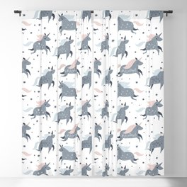 Magical unicorns patterns Blackout Curtain