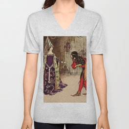 Bowing to the princess Unisex V-Neck
