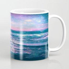 Mystic Waters Vibrant Pink Blue Lavender Coffee Mug