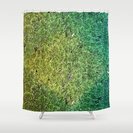 Patchwork Duckweed Shower Curtain