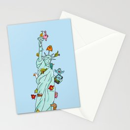 The Birds Liberty Statue Stationery Cards