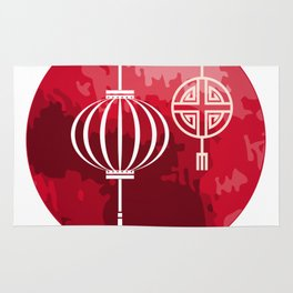 Red Lanterns Hoi An Vietnam Rug
