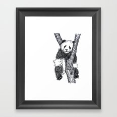 PANDA THE TREE HUGGER Framed Art Print