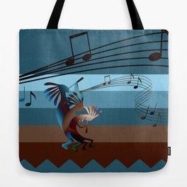 Southwest Kokopelli Music Tote Bag