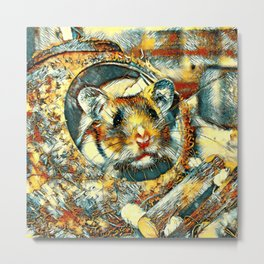 AnimalArt_Hamster_20170902_by_JAMColorsSpecial Metal Print