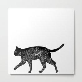 Cat Anatomy Metal Print