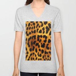 Leopard Print Unisex V-Neck