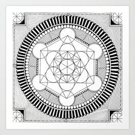 Geometric cirkel Art Print