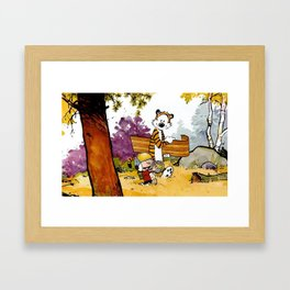 Calvin Hobbes art Framed Art Print