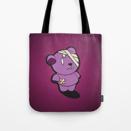 Purple Dead Bear Tote Bag
