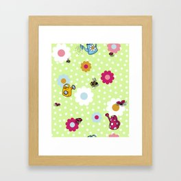 Bees & Beetles Framed Art Print