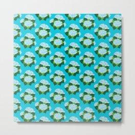 Hydrangeas, Blue Garden Metal Print