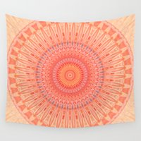 health Wall Tapestries featuring Mandala mental health by Christine baessler