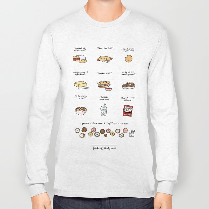 Foods of 30 Rock Long Sleeve T-shirt