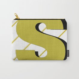 Cash $ Dollar // Transparent Gold Stripes Background  Carry-All Pouch