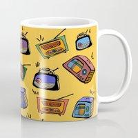 radio Mugs featuring Radio Show by andy_panda_