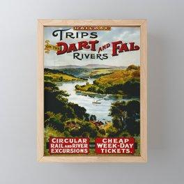 Advertisement Dart and Fal Rivers Framed Mini Art Print