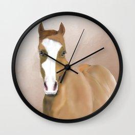A Horse Named Blue; a Memorial Portrait.  Wall Clock