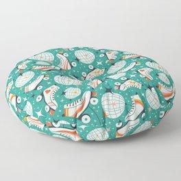 Roller Disco Aqua Floor Pillow