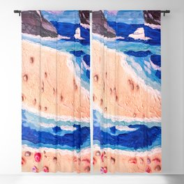 Vacation at the beach Blackout Curtain