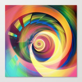 Spinning rainbow Canvas Print