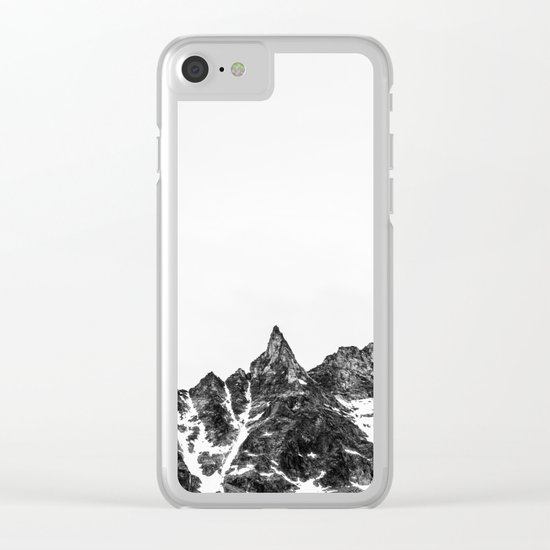 Minimalist Mountain Clear iPhone Case