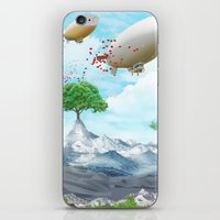 ballon iPhone & iPod Skins featuring Ballon Skyline by The Film Guy