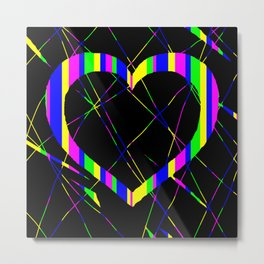 Heart Scratch Art Metal Print