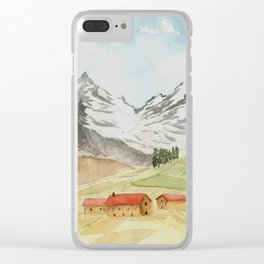 A Highland Village Clear iPhone Case