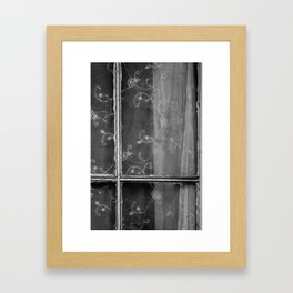 The window of an haunted house Framed Art Print
