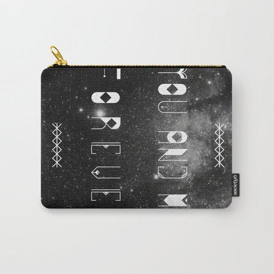 You and Me Forever Carry-All Pouch
