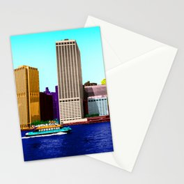 The colorful East side of Manhattan New York Stationery Cards