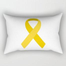 Yellow Awareness Support Ribbon Rectangular Pillow