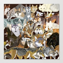 Wolves o´clock (Time to Wolf) Canvas Print