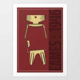 Classic Eames Chair poster / Print Art Print