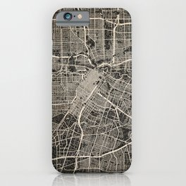 HOUSTON map Texas Ink lines 2 iPhone Case