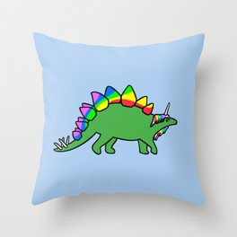 Stegocorn (Unicorn Stegosaurus) Throw Pillow