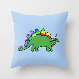 Stegocorn (Unicorn Stegosaurus) Throw Pillow