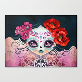 Amelia Calavera - Sugar Skull Canvas Print