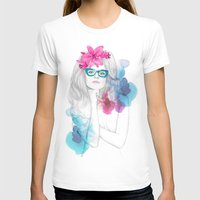 glasses T-shirts featuring Glasses by Camis Gray