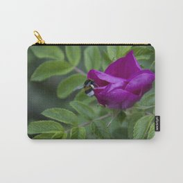 Bumble Bee On Wild Rose Carry-All Pouch