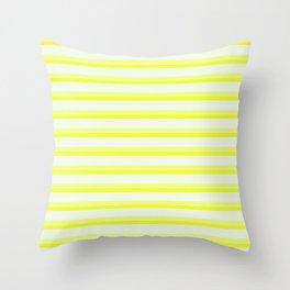 Illuminating Yellow Stripes Throw Pillow