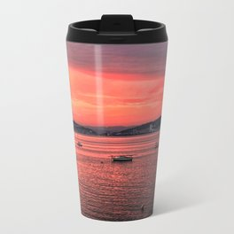 Mumbles Harbour after Sunset. Travel Mug