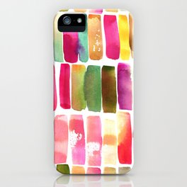 Watercolor Stripes iPhone Case