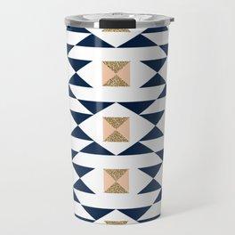 Jacs - Modern pattern design in aztec themed pattern navajo print textile cute trendy girl Travel Mug