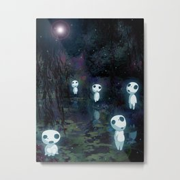 Princess Mononoke - The Kodama Metal Print