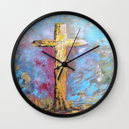 Colors of the Cross Wall Clock