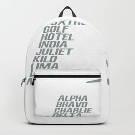 Airplane pilot phonetic alphabet Backpack