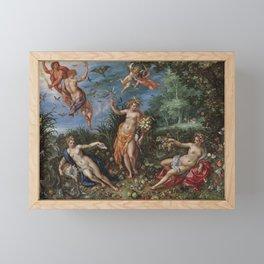 Abundance and the Four Elements , 1606 Framed Mini Art Print