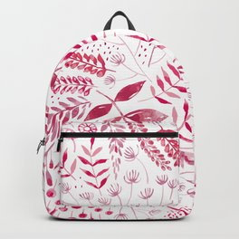 Leafy Greens : Pink Backpack